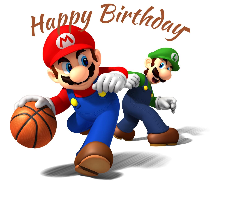 mario and luigi birthday cards