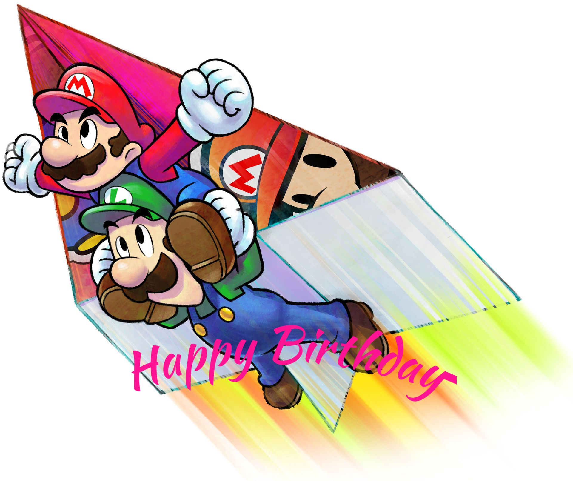 Mario and Luigi greeting cards