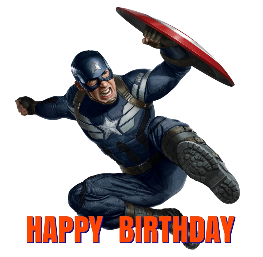 captain-america birthday cards