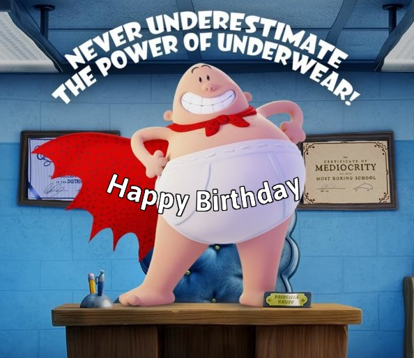 captain underpants birthday
