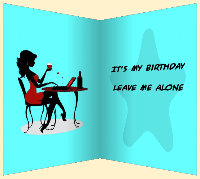 birthday cartoon card