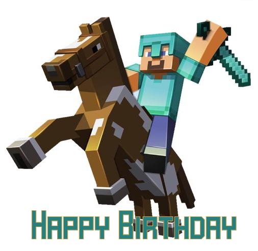Minecraft Birthday Ecards