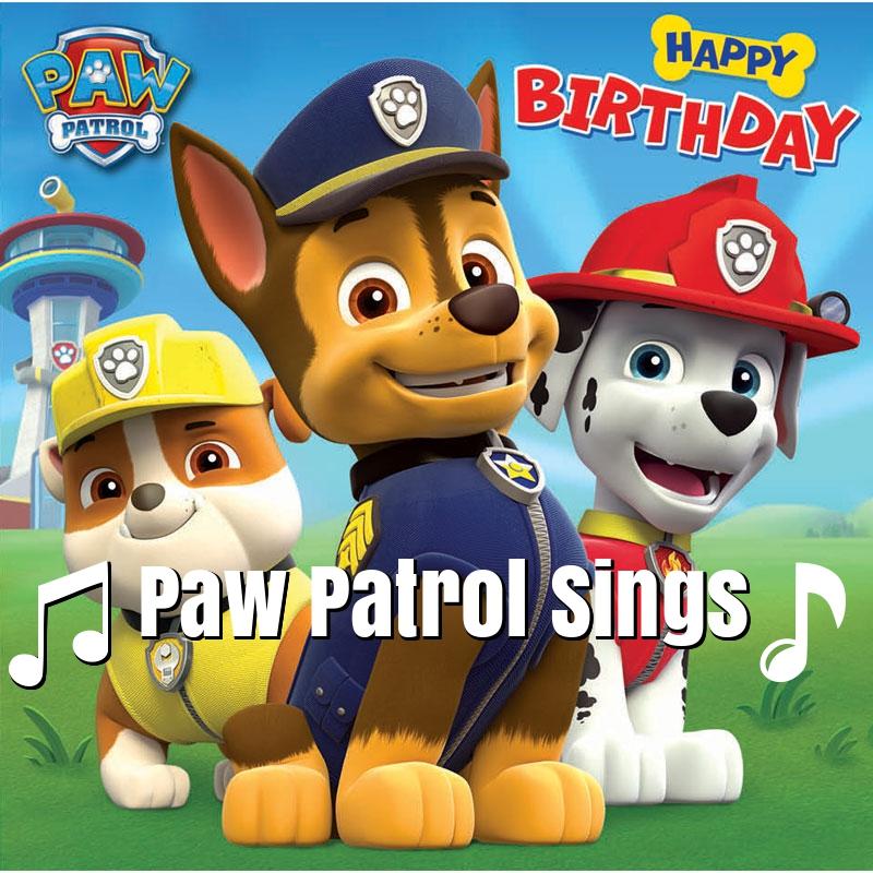 Pawpatrol Birthday Cards Singing
