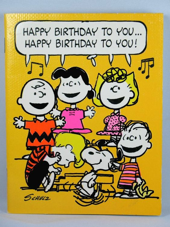 peanuts birthday singing cards