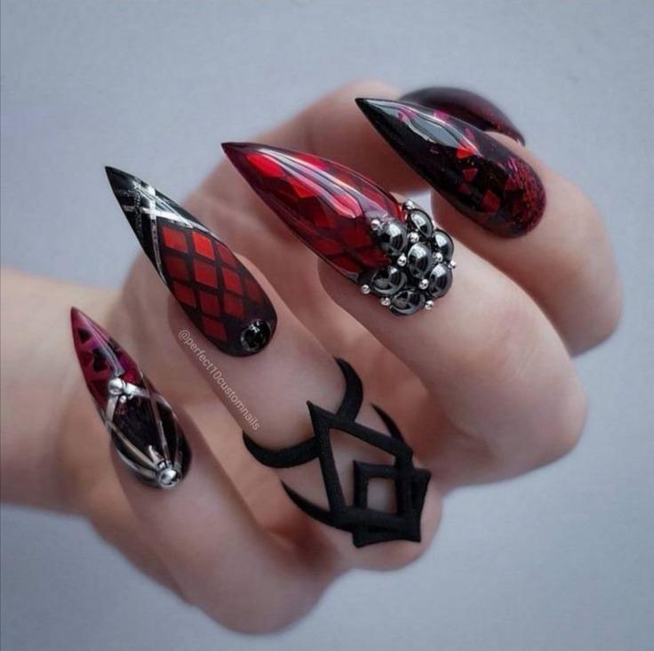 women's sexy black nail