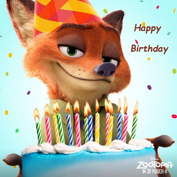 zootopia birthday cards